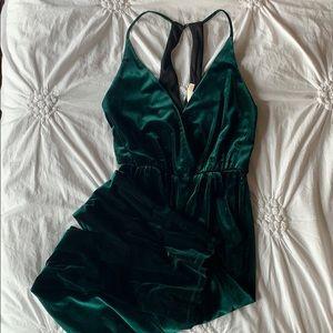 Gianni Bini Emerald Velvet Jumpsuit
